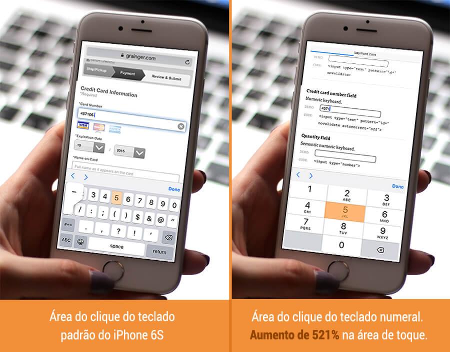 Layout adaptado em formulário mobile