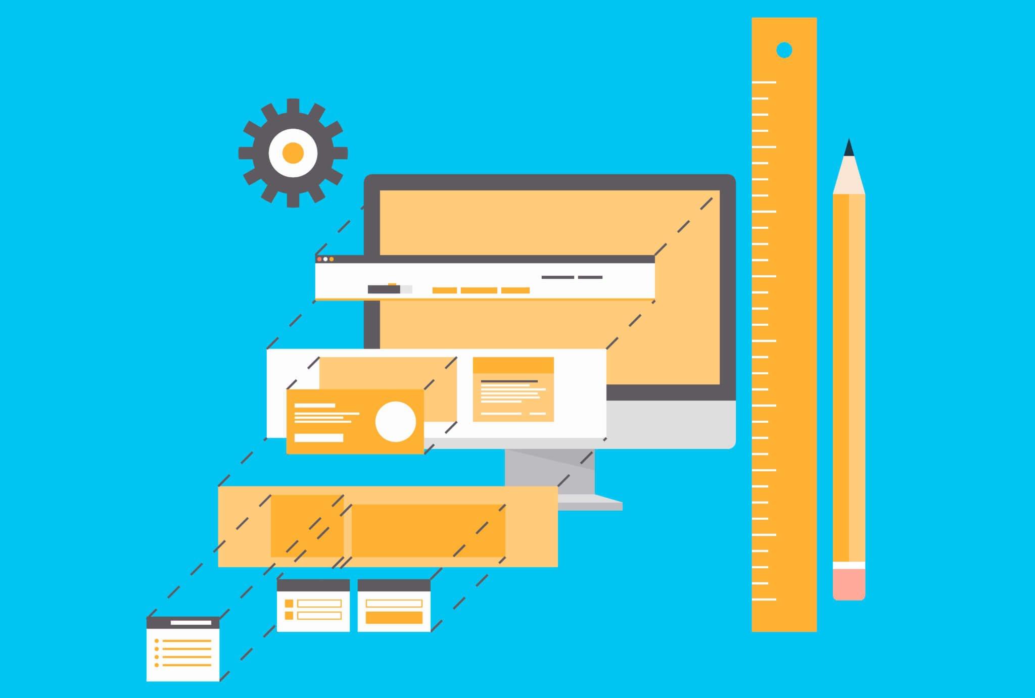 Website development flat illustration