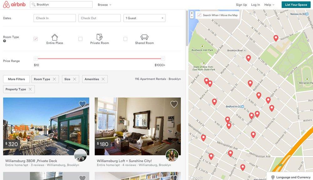 busca otimizada airbnb