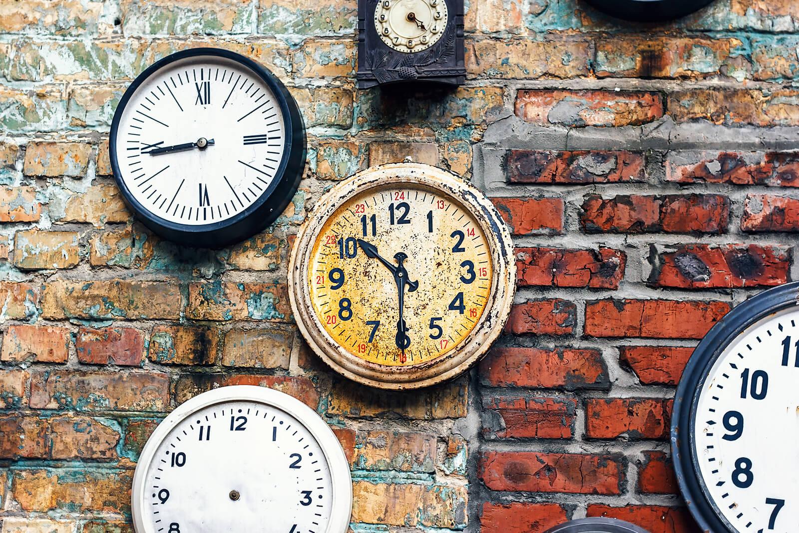 Slow Web - Wall full of clocks