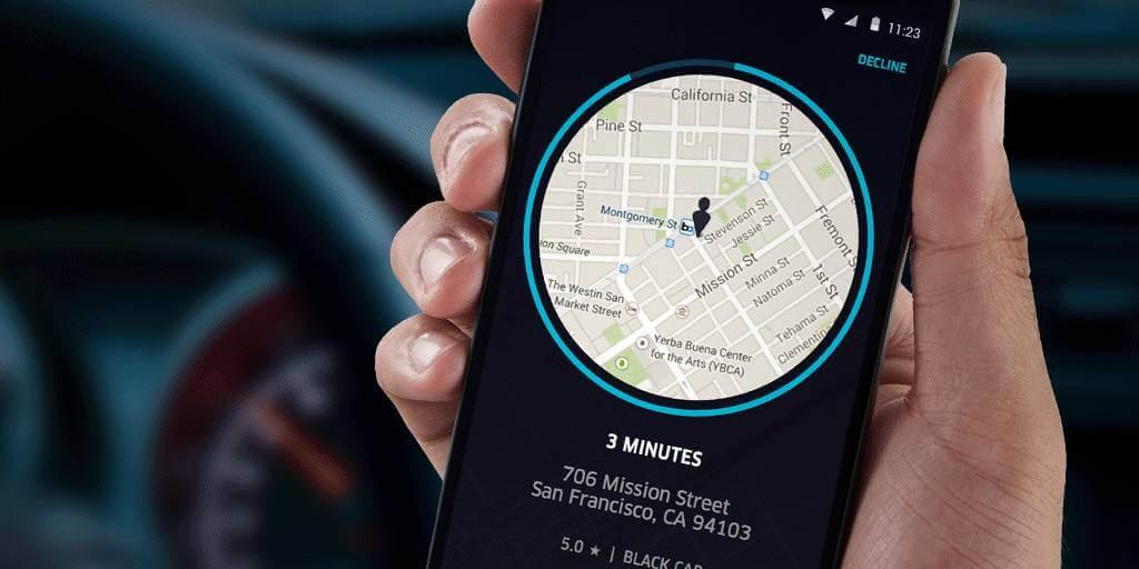 Localização uber